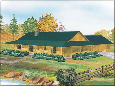 Neches Log Home Plan By Satterwhite Log Homes